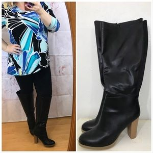 Lane Bryant knee high boots heels wide calf width
